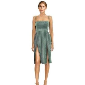 Misha Collection Janelle Midi Dress Green Size 2